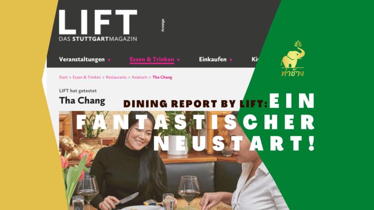 """Lift Stuttgart testet Tha Chang: """"Ein fantastischer Neustart!"""" Lift Gastrotest 05/21"""