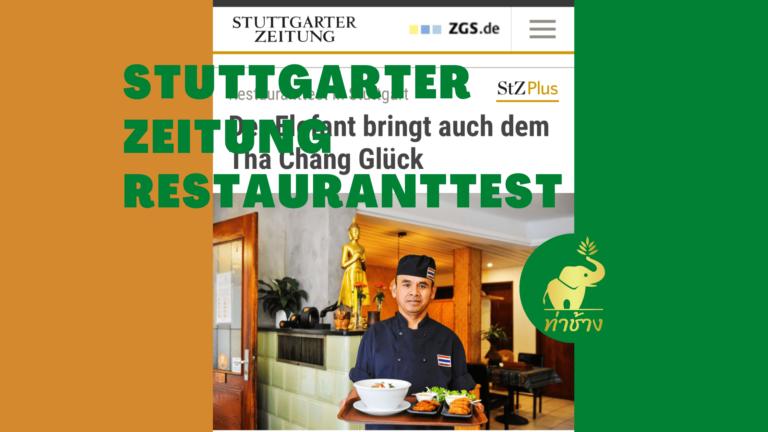 """Stuttgarter Zeitung Restauranttest 07/21                                           """"Alles ganz wunderbar"""""""